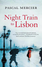 NIGHT TRAIN TO LISBON by PASCAL MARCIER Large Paperback