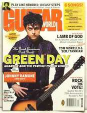 GUITAR WORLD MAGAZINE GREEN DAY BILLIE JOE ARMSTRONG JOHNNY RAMONE DEATH RARE!!!