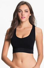 NWT New SPANX Slimmer & Shine Racerback All Around Crop Sports Bra Black #2108 M