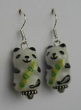 Bamboo bamboo yum! earrings panda pandas bear oriental funky Japanese kawaii