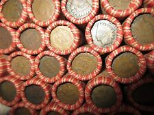 Sealed Wheat Indian Head Penny Mix Shotgun Roll With Indian Cent End Coin Lot H6