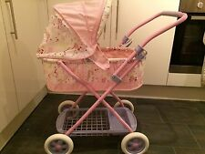 Baby Annabel Pram With Cover, Pillow And Quilt See Description