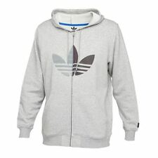 Adidas Zip-Up Tre Foil Hoody Grey Sz Medium G76336