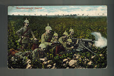 1916 WW1 Germany Army Feldpost Real Picture Postcard Cover Machine Gun Crew