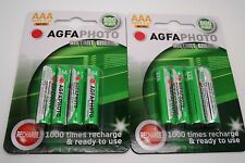 8 x SOLAR GARDEN LIGHT AAA 600mAh PRE-CHARGED NiMH BATTERIES - REPLACES NiCd