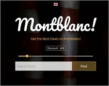 "Fully Stocked MONTBLANC Website - Upto £680 Commission - ""9000 Hits A Month"""