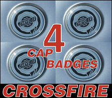 CHRYSLER CROSSFIRE WHEEL CENTER CAP STICKER BADGE 54mm LOGO EMBLEM CHROME BLACK