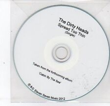(DS383) The Dirty Heads, Spread Too Thin - 2012 DJ CD