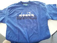 Lotto due t-shirt magliette Diadora Blu - Taglia L