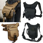 HOT Freeship Mens Bumbag Drop Leg Thigh Pack/Shoulder/Fanny/Waist Bag Canvas