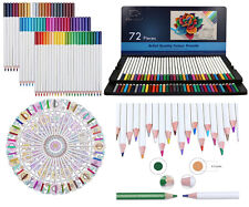 Elves Best Quality 72 Colors Pack Art Drawing Colored Pencils Set With Case