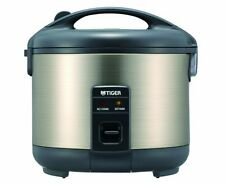 Tiger JNP-S18U-HU 10-Cup Uncooked Rice Cooker and Warmer, Stainless Steel Gray