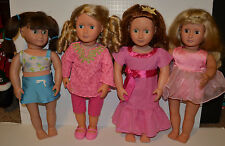 Our Generation Doll Lot 4 Dolls w Battat & Amer Girl Clothes Red Hair Green Eyes