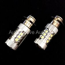 Arctic Cat ATV Super White LED Headlights Bulbs 80W Upgrade 2 Pack