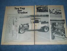 """1929 Ford Pickup Truck Vintage Hot Rod Article """"Too Tuff for Truckin' """""""