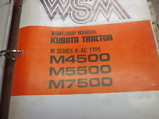 Kubota M4500 M5500 M7500 Tractor Workshop Manual