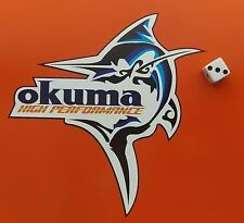 OKUMA Marlin FISHING DECAL STICKER /TACKLEBOX/BOAT/KAYAK/CAR/VAN