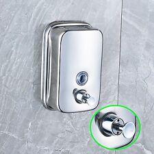Chrome Stainless Steel Liquid Soap Dispenser 500ml Shampoo Box Soap Holder