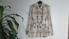 NWT Coach Tattersall Short Trench Coat Jacket Multicolor Size Medium F86119
