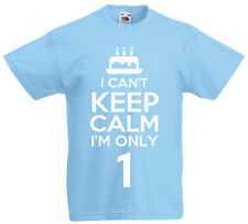 I Can't I'm Only 1 - 1st Birthday Gift T-Shirt For 1 Year Old Boys & Girls