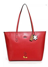 NWT COACH MICKEY MOUSE MICKEY CITY TOTE RED LIMITED EDITION SMOOTH CALF LEATHER