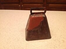 Vintage Metal Cow Animal Bell Working Condition Painted INtact