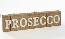 Prosecco LED Light Up Wooden Plaque Wall Sign Bar Carnival Marquee Chic Shabby