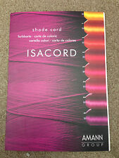 Isacord polyester embroidery thread  chart  with the new 390 colors
