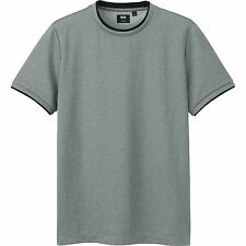 THEORY x UNIQLO 'Layered' Dry-Ex Short Sleeve T-Shirt Men's M Gray **NWT**