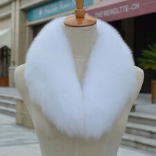 Women Warm100% Real Genuine Farm Fox Fur Collar Wrap Scarf Shawl Neck Graceful