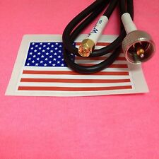 SMA male to PL-259 male jumper pigtail Cable RG58 6' MADE IN USA