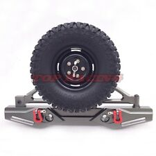 Axial SCX10 CNC Machined Aluminum Rear Bumper With Spare Tire Carrier Gun Metal