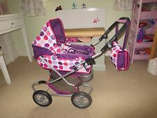 Childrens Mamas and Papas X-cel Junior Dolls Pram & accessories