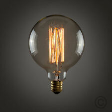 Vintage Industrial Filament Light Bulbs Squirrel Cage Antique Style E27- 60W G95