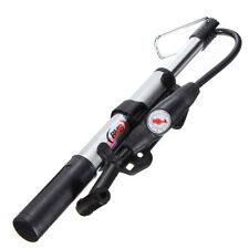 Bicycle Alloy Mountain Bike Cycle Air Pump schrader presta Tyre Inflator Gauge