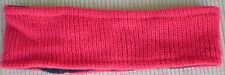 Hand Crocheted 100% Wool w/ Fleece Lining Headband Adult Size RED