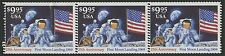 """#2842 VAR. STR/3 WITH DOUBLE ROW OF PERF ERRORS """"FIRST MOON LANDING 1969"""" BS7244"""