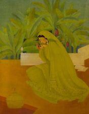 Pakistani Woman : Abdur Rahman Chughta : c1950 Mid-Century Modern
