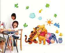Winnie The Pooh Wall Decals Kids Bedroom Baby Nursery Stickers Art Decor Room YA