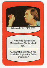 1980s UK TV Times Card - Darts - 9 dart finisher John Lowe
