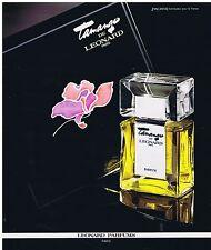 PUBLICITE ADVERTISING 054 1978 LEONARD 'Tamango' parfums