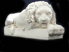 Canova Lion Crouching petit plâtre sculpture figure animale art made in england