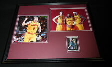 Kevin Love Signed Framed 16x20 Photo Set PANINI Cavaliers w/ Lebron James