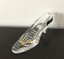 Killarney Crystal Slipper Shoe Green Rhinestone Heart Gold Embellishment Ireland