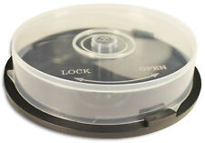 8 PIECES of 10-Disc Capacity Cakebox CD/DVD Plastic Storage Containers/Spindles