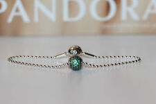 AUTHENTIC PANDORA ESSENCE BEADED BRACELET AND PROSPERITY CHARM SET 19CM 7.5