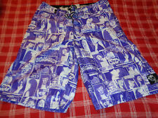 RARE LOST Mayhem Pin Up Girl BOARD SHORTS Swim Beach Surf  Size 30 VAMPIRES