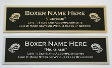 Custom Engraved Boxing Nameplate for your signed glove trunks or display case