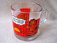 Vintage 1978 McDonald's 8 oz Garfield glass coffee tea mug (2)