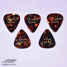 5x MEDIATORS FENDER Celluloid 351 SHELL TORTOISE MEDIUM Guitar PICKS